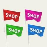 Boutique - drapeaux de vecteur Images stock