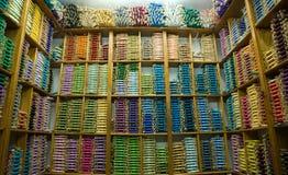 Boutique du fil en soie Images libres de droits