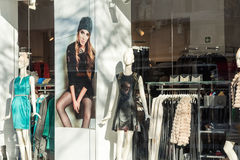 Boutique Fashion Mannequins Royalty Free Stock Photography