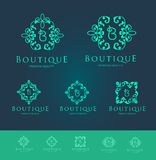 Boutique Floral Logo Design Stock Image