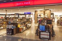 Boutique hors taxe à l'aéroport Photos libres de droits