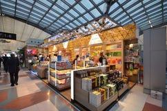 Boutique hors taxe à l'aéroport de Suvarnabhumi, Bangkok Images libres de droits