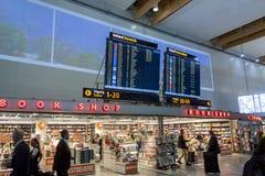 Boutique hors taxe à l'aéroport international d'Oslo Gardermoen Photos libres de droits