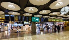 Boutique hors taxe dans l'aéroport de Barajas Image libre de droits