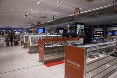 Boutique hors taxe dans l'aéroport de Guarulhos à Sao Paulo Photographie stock libre de droits