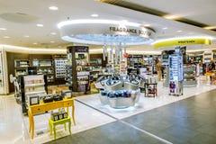 Boutique hors taxe dans l'aéroport de Pulkovo à St Petersburg Image stock