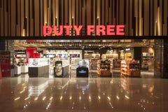 Boutique hors taxe dans l'aéroport international d'Esenboga, Ankara, Turquie Photographie stock libre de droits