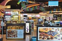 Boutique hors taxe dans l'aéroport international de Macao Photo stock
