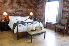 Boutique Hotel Room - Old Montreal, Canada Stock Photos