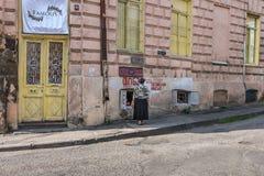 Boutique locale Tbilisi la Géorgie de pain Images libres de droits