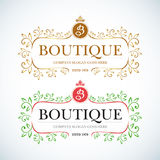 Boutique Luxury Vintage, Crests logo. Business sign Royalty Free Stock Photography