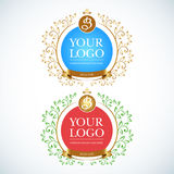 Boutique Luxury Vintage, Crests logo. Business sign Royalty Free Stock Photo