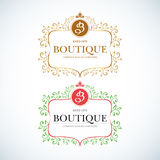 Boutique Luxury Vintage, Crests logo. Royalty Free Stock Photos