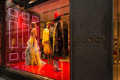 Boutique Milan de Gucci Photo libre de droits