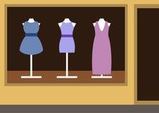 Boutique, negozio dell'abbigliamento delle donne Immagini Stock Libere da Diritti