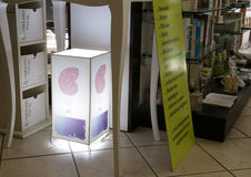 Boutique pour des produits biologiques à Rome Image stock