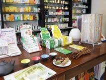 Boutique pour des produits biologiques à Rome Photos libres de droits