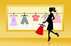 Boutique pour des vêtements de bébé Image stock