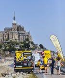 Boutique promocional móvil del Tour de France Foto de archivo libre de regalías
