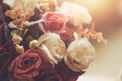 Boutique retro de la decoración de la flor de las rosas del vintage Imágenes de archivo libres de regalías