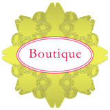 Boutique retro del logotipo Fotos de archivo libres de regalías