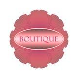 Boutique retro del logotipo Foto de archivo libre de regalías
