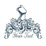 boutique Robe, illustration de Logo Design Template Vector Design de robe illustration libre de droits