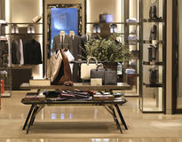 Boutique And Shirt. View of a boutique interior Royalty Free Stock Photos