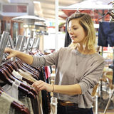 Boutique shopper Stock Images