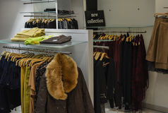 Boutique. Some fashion clothes in boutique Stock Photos