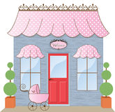 Boutique Storefront. Baby Boutique Storefront Shoppe  illustration Stock Images