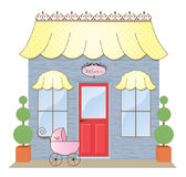 Boutique Storefront. Baby Boutique Storefront Shoppe illustration Royalty Free Stock Photography