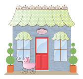 Boutique Storefront. Baby Boutique Storefront Shoppe illustration Royalty Free Stock Photos