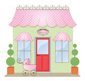 Boutique Storefront. Baby Boutique Storefront Shoppe  illustration Stock Photography