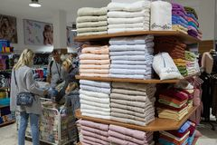 Boutique turque de coton Photos stock