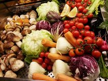 Boutique végétale à Milan Photos libres de droits