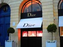 Boutique Vendome en place de Dior photographie stock