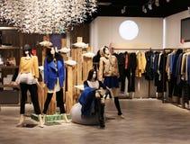 Boutique. View of a boutique interior Stock Photos