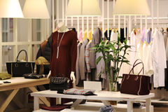 Boutique. View of a boutique interior Stock Image