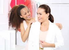 Boutique, women shopping Royalty Free Stock Image