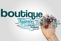 Boutique word cloud Stock Photography