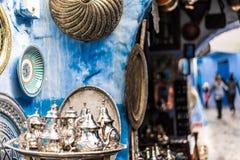 Boutiques dans Chefchaouen Images stock