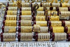 Boutiques de bijoux de bazar d'Amir Bazaar ou d'or à Tabriz Province est de l'Azerbaïdjan l'iran Images libres de droits