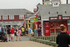Boutiques de cadeaux sur le quai de Halifax photos stock
