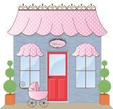 boutiqueskyltfönster Arkivbilder
