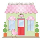 boutiqueskyltfönster Arkivbild