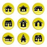 Bouton à la maison Photos libres de droits