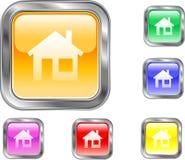 Bouton à la maison Image stock