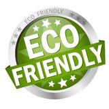 Bouton écologique Photo libre de droits