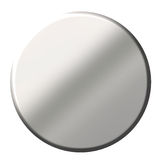 bouton 3D circulaire en acier illustration de vecteur